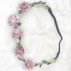 Boho Flower Crown/ Headband (new) light purple